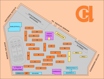 Mapa del CCH Azcapotzalco